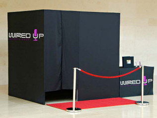 A Wired Up Entertainment photobooth in Wilmongton, DE